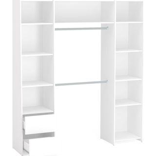 Closet-Diamante-com-2-gavetas-e-2-cabideiros-150270-Politorno-Moveis-Branco-1