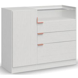 Comoda-com-1-Porta-e-3-Gavetas-F261-Kappesberg-Branco-Fosco