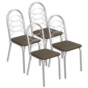 4-Cadeiras-Cromadas-Holanda-4C009---Kappesberg---Marrom