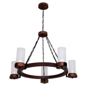 Lustre-Country-Envelhecido-para-5-lampadas-1105E-Luminarias-Muller