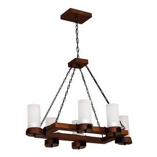 Lustre-Country-Envelhecido-para-6-lampadas-1206E-Luminarias-Muller