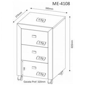 Gaveteiro-com-3-gavetas-ME4108---Tecnomobili---Montagem
