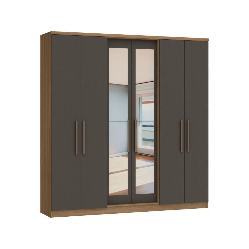 Guarda-Roupa-Casal-com-Espelho-6-Portas-e-2-Gavetas-Castro-Sonato--2-