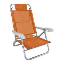 Cadeira-de-praia-reclinavel-Zaka-aluminio-Laranja-01